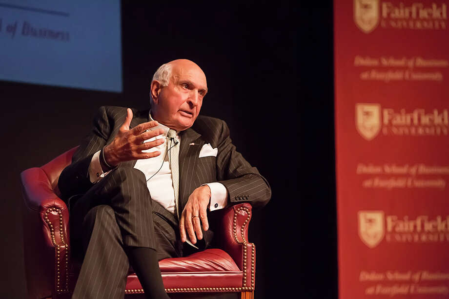 Kenneth Langone, president and CEO of Invemed Associates and co-founder of Home Depot, spoke at Fairfield University on Monday night for the Dolan School of Business's 14th annual Charles F. Dolan Lecture. In front of a mostly filled audience at the university's Quick Center for the Arts, the 78-year-old talked about getting to know people and organizations well before investing in them, his optimistic nature and view of America's future, his conservative political stances and the qualities of good leadership. He also relayed many colorful stories from his long and successful career. Photo: Gwendolyn Pellegrino Photography, Contributed Photo / Connecticut Post Contributed