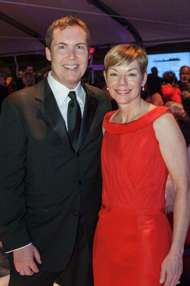 Matt Newcomer and Paula Downey at the 2014 Red Cross Gala on April 5, 2014. Photo: Drew Altizer Photography/SFWIRE, Drew Altizer Photography / ©2014 Drew Altizer Photography