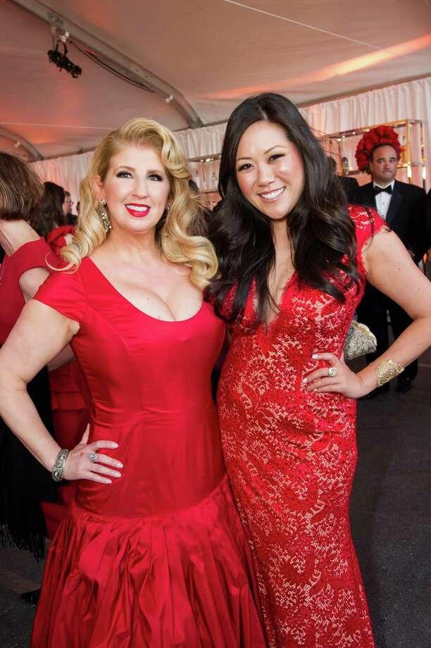 Roberta Economidis and Ye-Hui Liu at the 2014 Red Cross Gala on April 5, 2014. Photo:  Susana Bates For Drew Altizer, Drew Altizer Photography / Drew Altizer Photography