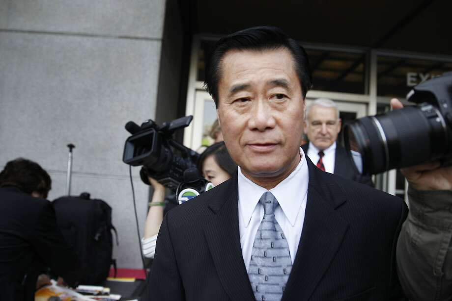 Suspended California state Sen. Leland Yee leaves the Phillip Burton Federal Building and United States Courthouse after his arraignment on Tuesday, April 8, 2014,  in San Francisco, Calif. Photo: Lea Suzuki, The Chronicle