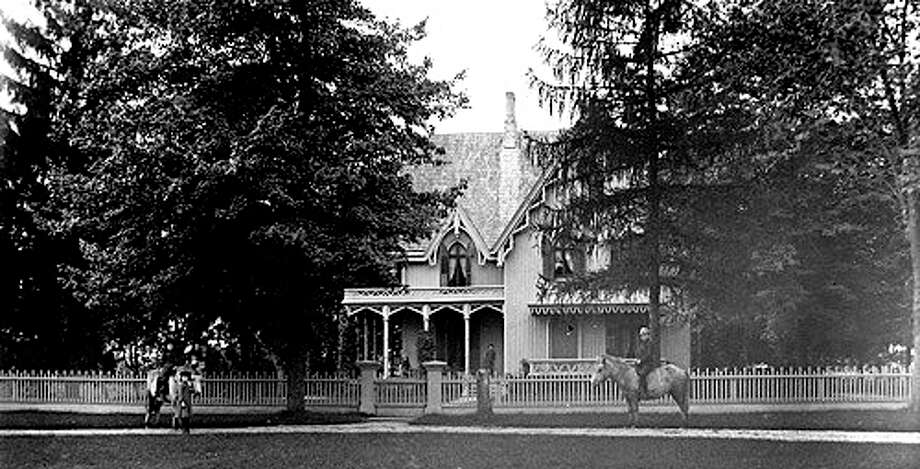 Sturges Cottage was built in 1840 by Jonathan Sturges, a successful merchant from Southport.The home had central plumbing before the White House did. Additions were added to the cottage in 1883 and 1890. Today, the Sturges family keeps up a more recent tradition of welcoming children on Halloween. Courtesy: Fairfield Museum and History Center Photo: Contributed Photo / Fairfield Citizen