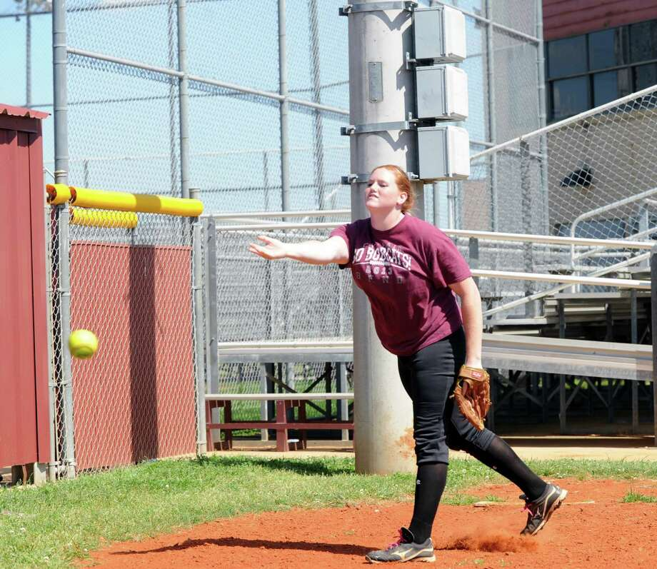 Cy Fair's Kinsie Hebler and the Bobcats take on Seven Lakes in the third round of the UIL Class 5A softball playoffs. Photo: Eddy Matchette, Freelance / Freelance