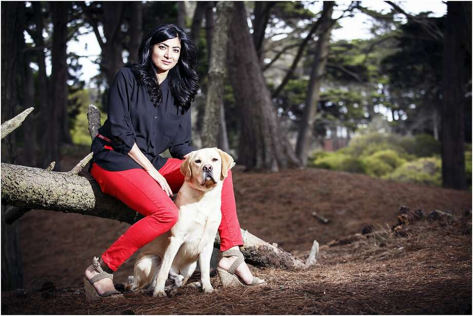 Mona Bajwa, seen with her dog Simba, is a co-founder of Trymbl, which lets clients sample a product before buying. The startup offers more than 500 ingredient-conscious beauty and skin care products. Photo: Trymbl