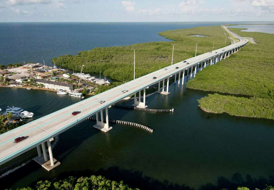 At this time of year, traffic on the Florida Keys Overseas Highway is usually much heavier than in this photo taken in October 2009 near Key Largo. Photo: Andy Newman, HO / Florida Keys NewsBureau