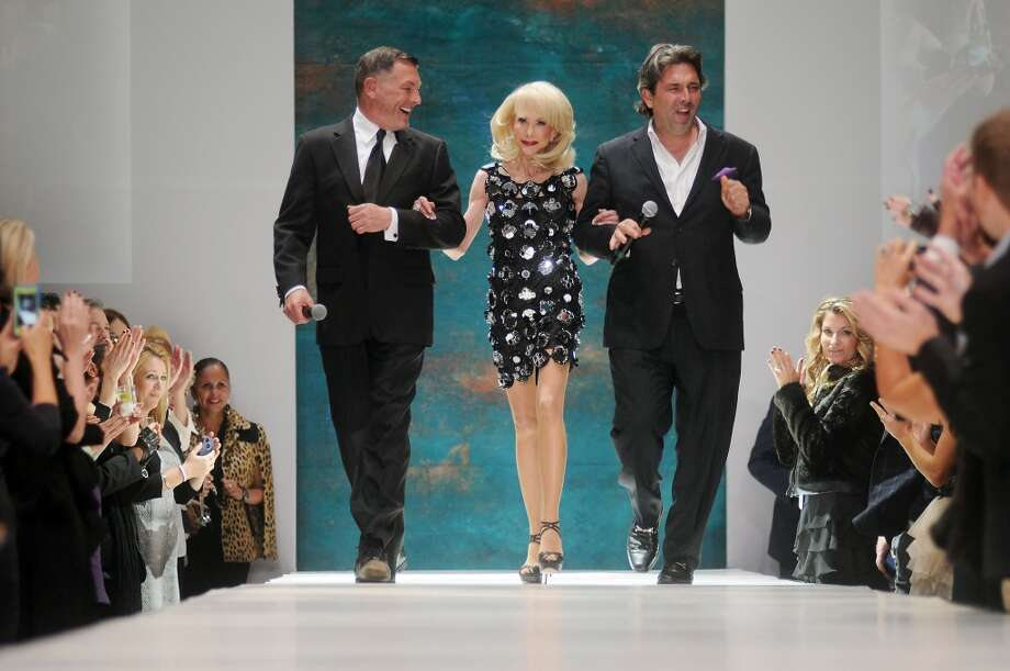 2012 Style Icon Diane Lokey Farb walks the runway with Neal Hamil, at left, and Jared Lang at Fashion Houston at the Wortham Theater Thursday Nov. 15,2012.(Dave Rossman photo) Photo: Dave Rossman, For The Houston Chronicle