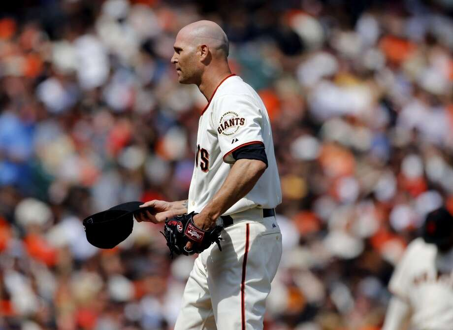 Giants' starting pitcher Tim Hudson, (17) during the third inning,  as the San Francisco Giants take on the Arizona Diamondback during their home opener at AT&T Park on Tuesday April 8, 2014, in San Francisco, Calif. Photo: Michael Macor, The Chronicle