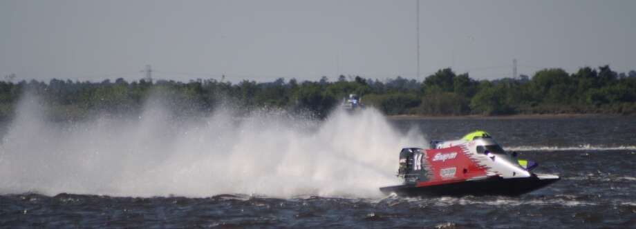 Illinois resident Chris Fairchild took first place in the Port Neches RiverFest Formula 1 Boat Races. The boats can reach speeds around 120 mph or faster, depending on wind speed. Photo: Beaumont Enterprise