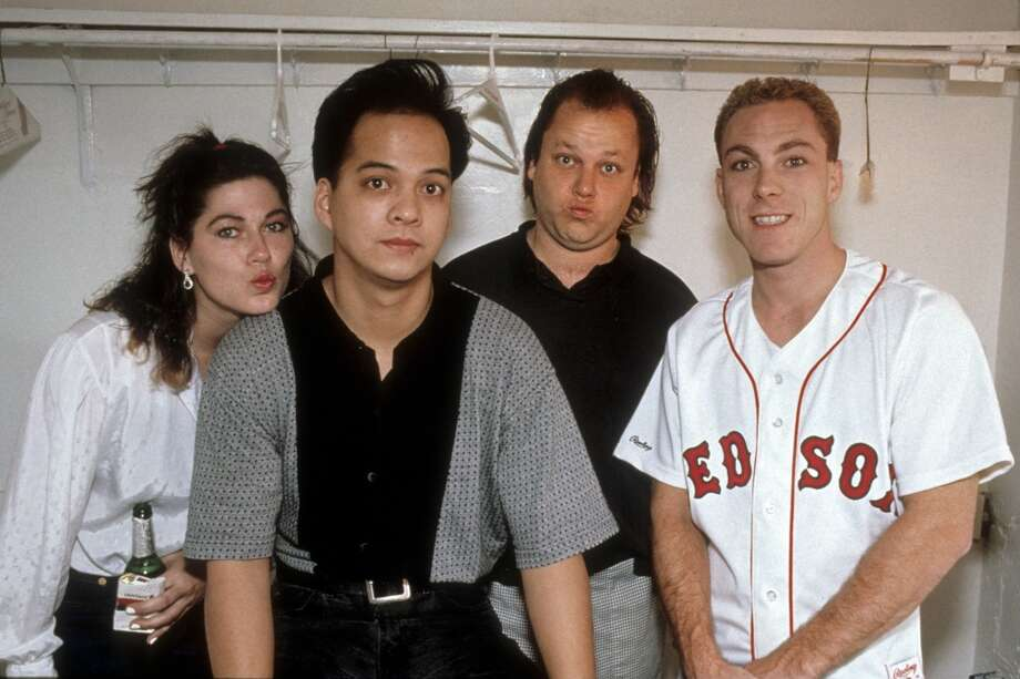 The Pixies (L-r, Kim Deal, Joey Santiago, Frank Black (aka Black Francis) and David Lovering): The relationship between this alt-rock band's frontman Black Francis and bassist Kim Deal was strained, at best, for much of the Pixies life span. Things came to a head in the early '90s as the pair fought over creative control of the band, with Deal refusing to play shows and neither of them talking to the other. Black Francis ended it all by breaking the band up — by fax — in 1993. The Pixies got back together in 2004, but Deal quit during the band's latest tour to focus on her other band, the Breeders. Photo: Clayton Call, Redferns