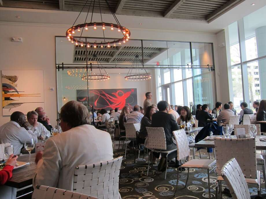 A view of the dining room at Caracol during lunch. Photo: Alison Cook