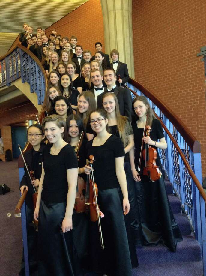 The Darien High School Orchestra was awarded gold for its performance at the Heritage Music Performance Festival in Washington, D.C,, March 28 to 30. Photo: Contributed Photo, Contributed / Darien News