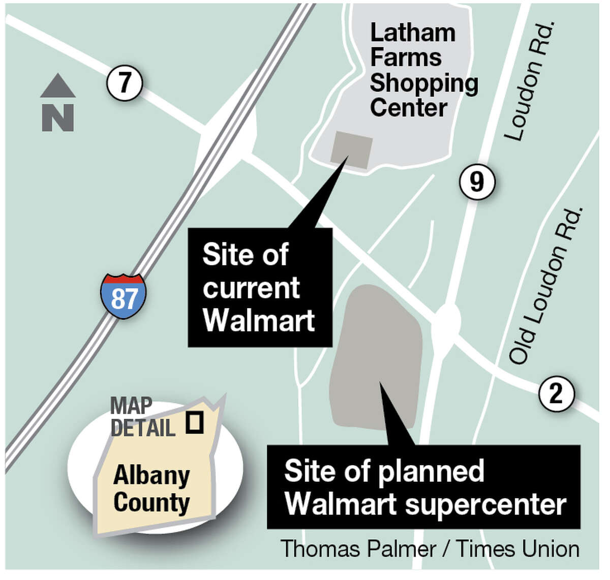 Site of planned Walmart supercenter.