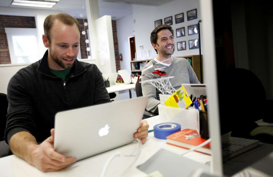 Omada Health co-founders Adrian James (left) and Sean Duffy. The company hopes to also help people with hypertension and high cholesterol. Photo: Sarah Rice, Special To The Chronicle