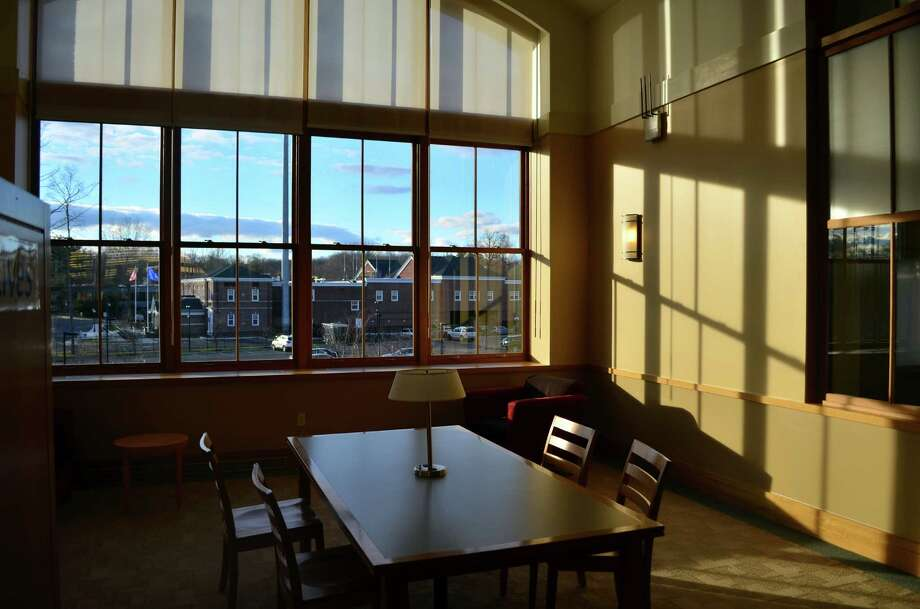 The new library was designed so that light would flood almost every room. Photo: Megan Spicer / Darien News