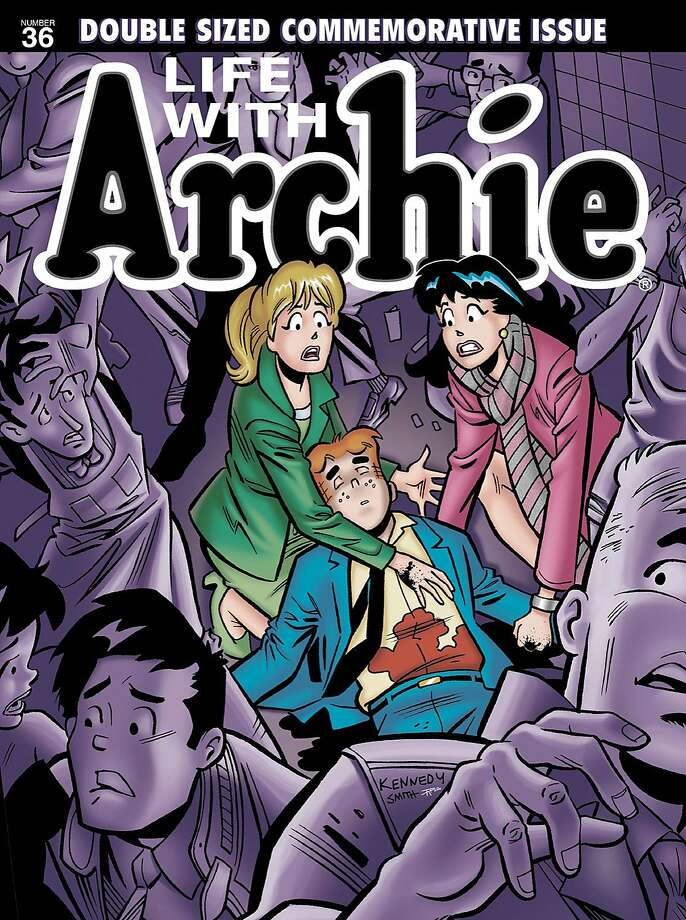 Wednesday: Old-school comic book icon Archie Andrews dies, sacrificing himself to save a friend. The character of Archie was first seen in 1941, while the 'Life With Archie' series was introduced in 1958 to tell more dramatic or adult stories, and revived in 2010 to recount possible future scenarios. Photo: Uncredited, Associated Press