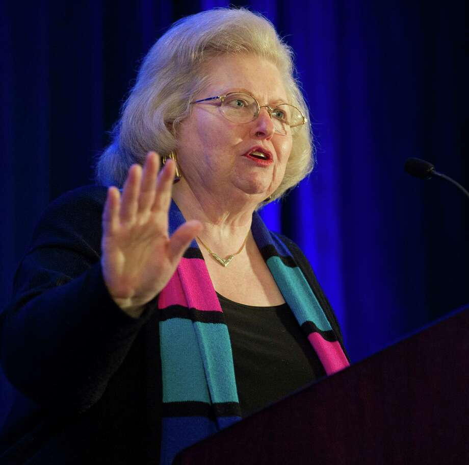 Sarah Weddington speaks at the annual spring luncheon for Planned Parenthood of Southern New England at the Marriott in Stamford, Conn., on Wednesday, April 9, 2014. Weddington is the attorney who successfully argued Roe V. Wade in the United States Supreme Court in 1973. She remains the youngest attorney to ever argue a case in front of the Supreme Court. Photo: Lindsay Perry / Stamford Advocate