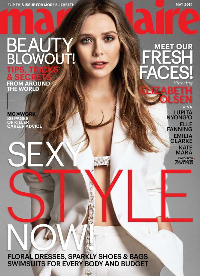 Elizabeth Olsen on the cover of Marie Claire's May issue. Photo: Cedric Buchet/Marie Claire