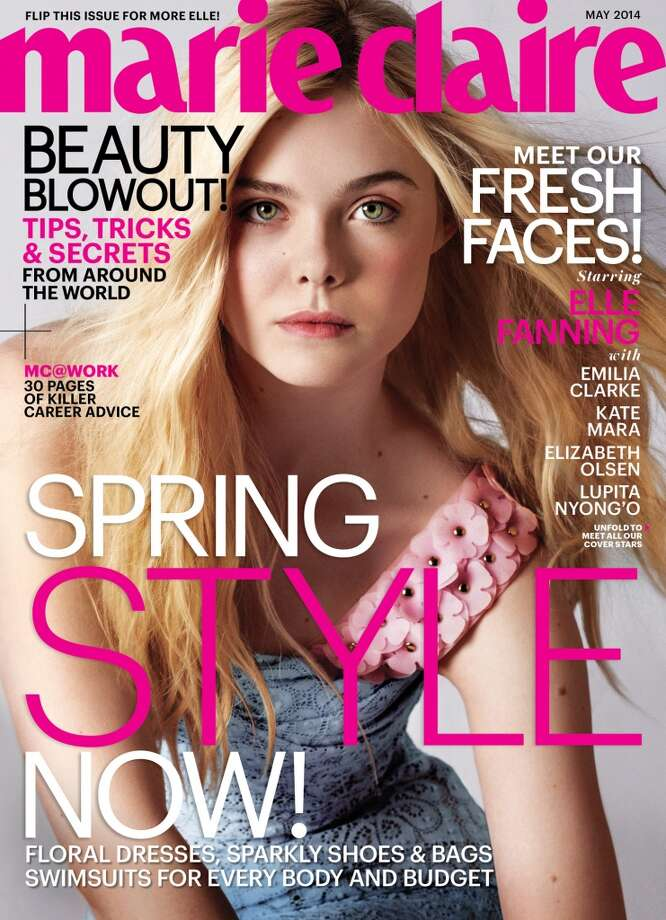 Elle Fanning on the cover of Marie Claire's May issue. Photo: Cedric Buchet/Marie Claire