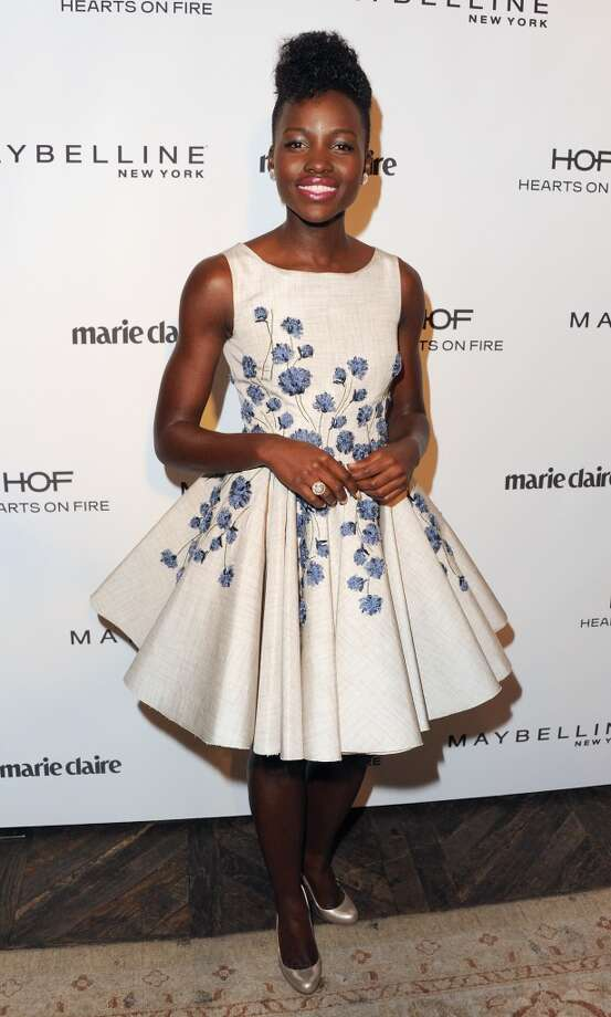 Actress Lupita Nyong'o arrives at Marie Claire's Fresh Faces Party at Soho House on April 8, 2014 in West Hollywood, California. Photo: Jon Kopaloff, FilmMagic