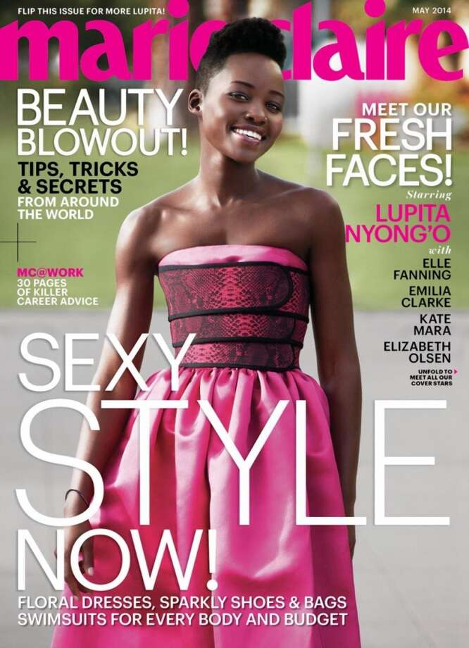 Lupita Nyong'o on the cover of Marie Claire's May issue. Photo: Cedric Buchet/Marie Claire