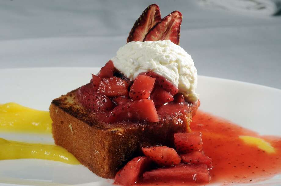 A strawberry dessert from Haven. Photo: Dave Rossman, For The Houston Chronicle