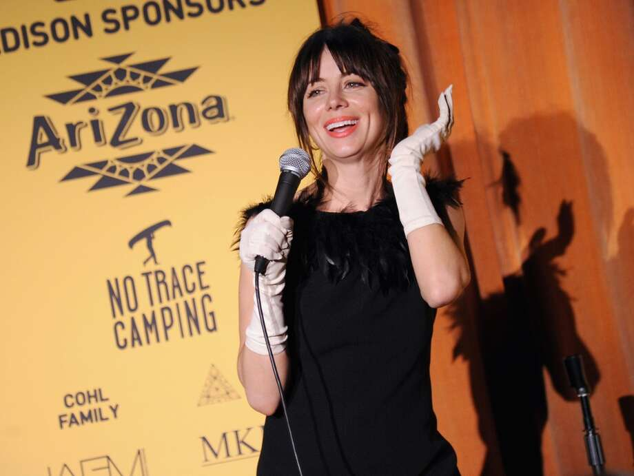 Comedian Natasha Leggero speaks onstage at Hilarity for Charity NYC Cocktail Party at The Jane Hotel on April 8, 2014 in New York City. Photo: Ilya S. Savenok, Getty Images For Hilarity For Ch