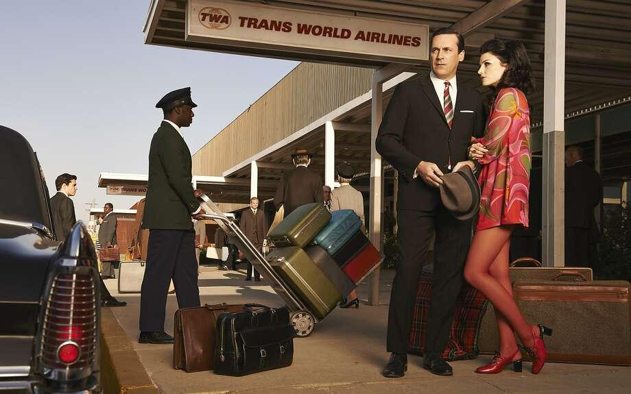 "Jon Hamm and Jessica Pare star in, ""Mad Men,"" on AMC. Photo: Frank Ockenfels 3, AMC"