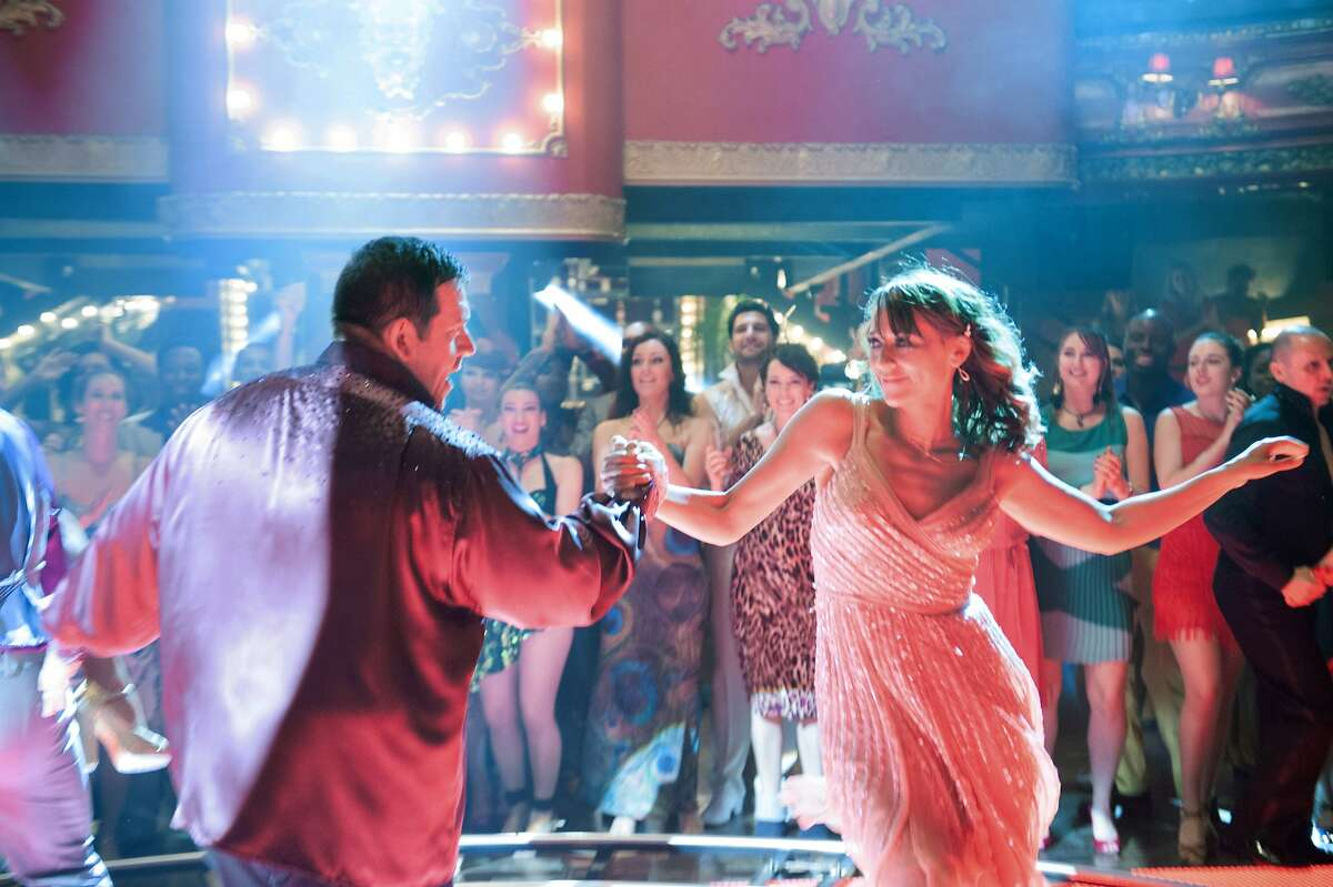 Nick Frost (Bruce) with Rashida Jones (Julia) in Entertainment One's upcoming release, CUBAN FURY.