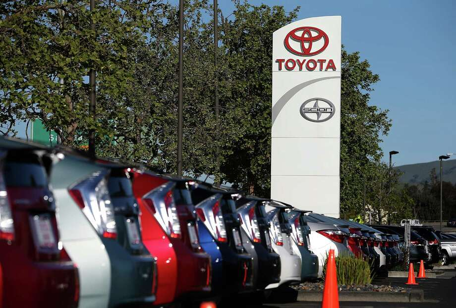 FILE - APRIL 9, 2014: It was reported that Toyota Motor Corp. is recalling 6.39 million vehicles worldwide for various defects April 9, 2014 SAN RAFAEL, CA - MARCH 19:  Brand new Toyota cars are displayed on the sales lot at Toyota Marin on March 19, 2014 in San Rafael, California. Toyota Motor Corp has agreed to pay a record $1.2 billion to settle a criminal investigation into safety issues after admitting to misleading American consumers about issues that caused cars to accelerate despite drivers trying to slow them down.  (Photo by Justin Sullivan/Getty Images) ORG XMIT: 479902627 Photo: Justin Sullivan / 2014 Getty Images