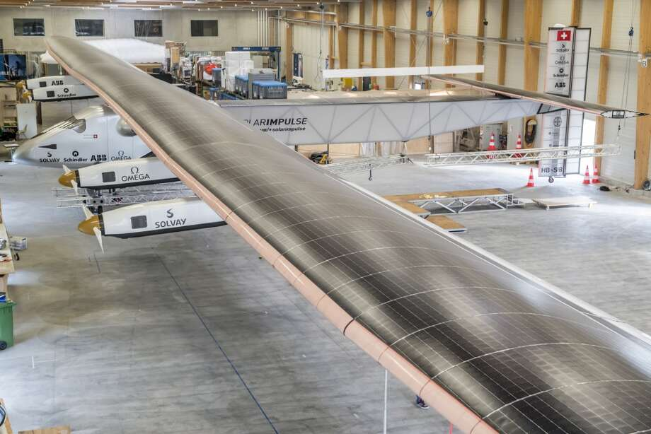In 2015, the Solar Impulse 2 is due to make the first round-the-world solar flight, day and night without any fuel. This revolutionary single-seater aircraft made of carbon fibre has a 236 ft wingspan -- larger than that of the Boeing 747-8I -- and weighs as much as a car (5,000 pounds). Photo: Jean Revillard, Associated Press