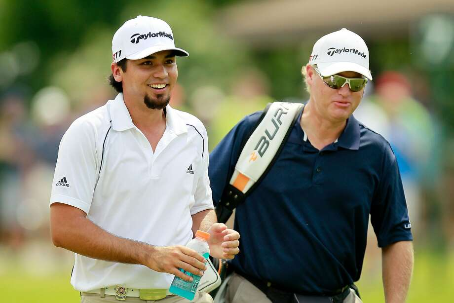 JOHNS CREEK, GA - AUGUST 09:  (L-R) Jason Day of Australia walks with caddie Colin Swatton during a practice round prior to the start of the 93rd PGA Championship at the Atlanta Athletic Club on August 9, 2011 in Johns Creek, Georgia.  (Photo by Kevin C. Cox/Getty Images) Photo: Kevin C. Cox, Getty