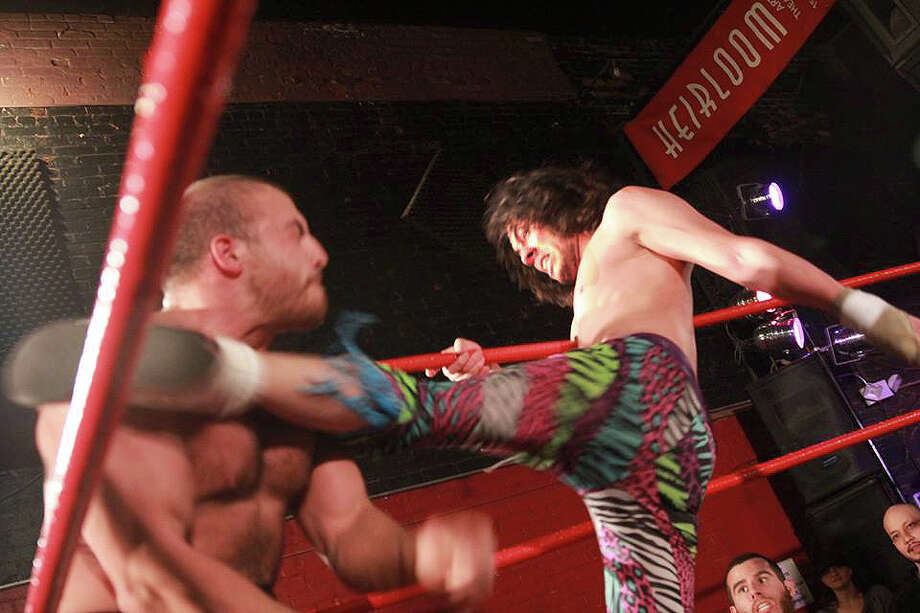 Inter Species Wrestling slams into Danbury's Heirloom Arts Theatre on Friday, April 19. Photo: Contributed Photo / Connecticut Post Contributed