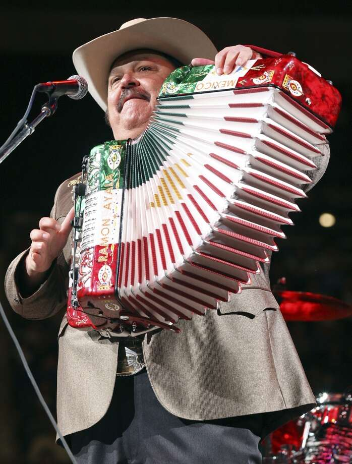 Ramon Ayala – Tejano Explosion, 9 p.m. and midnight shows, Friday, April 11, Cattleman's Square – Grammy-winning  Norteno accordionist's legend dates to the 1960s with Cornelio Reyna y Los Relampagos Del Norte. (File photo) Photo: EDWARD A. ORNELAS, SAN ANTONIO EXPRESS-NEWS