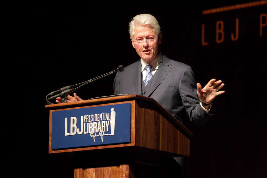 Former President Bill Clinton addresses the audience during the Civil Rights Summit at the LBJ Presidential Library on the University of Texas campus in Austin, Tx., on Wednesday, April 9, 2014.  DEBORAH CANNON / PHOTO POOL Photo: Dborah Cannon, PHOTO POOL / PHOTO POOL
