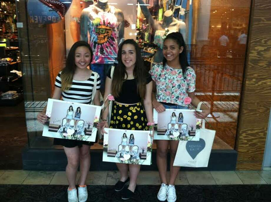 "Having just met Kylie and Kendall, fans Hope Miller, Alea Maldonado and Kennedy Barker – all 13 years old – are thrilled at Kendall & Kylie's Spring Collection Launch in San Jose. ""Their style is so hip and chic."" said Miller. ""And they're so kind and sincere,"" added Maldonado. Photo: Photo By Valerie Demicheva's IPhone"