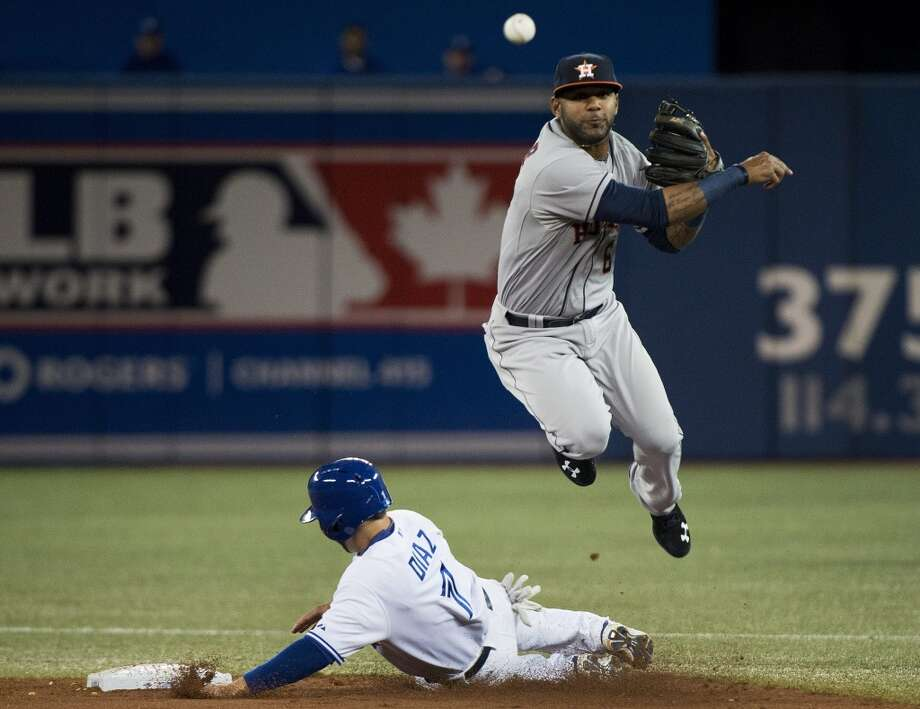April 9: Blue Jays 7, Astros 3  Houston's average with runners in scoring position took another hit in Wednesday's loss after the team went 0-for-3 in run scoring situations.  Record: 3-6. Photo: Nathan Denette, Associated Press