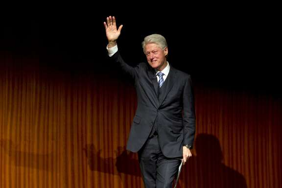 Former President Bill Clinton spoke at the 50th anniversary of the Civil Rights Act at a summit in Austin.