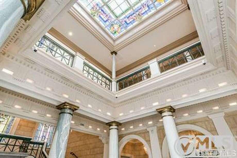 Soaring ceilings in the atrium Photo: MLS