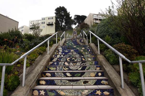 More then 300 Golden Gate Heights neighbors  put together a mosaic  to create the  1 6th Avenue Tiled Steps Project (also known as the  Moraga Steps on Google Maps ).  Google map