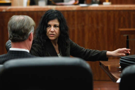 Convicted killer Ana Trujillo arrives in court for punishment phase of her trial Thursday, April 10, 2014, in Houston. Trujillo was convicted in the brutal 2013 slaying of her boyfriend, Alf Stefan Andersson, using a 5-inch stiletto shoe. ( Brett Coomer / Houston Chronicle ) Photo: Brett Coomer/Houston Chronicle