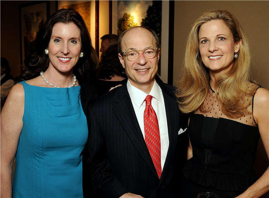 Phoebe Tudor, left, with Sam and Melinda Stubbs Photo: Dave Rossman, For The Chronicle