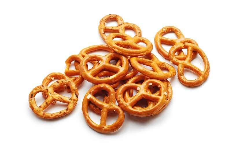 Pretzels:A 16-ounce bag of 365 Everyday Value brand pretzels costs ...