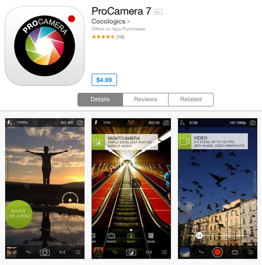 Pro Cameraisn't just one of the best photo apps available for download, it's one of the best apps of any kind for easy-to-use interface which allows users to shoot hi-res, shake-free photos and videos in a variety of lighting situations and easily edit them. It's a must-download, even at $4.99*.*Current iTunes App Store price.