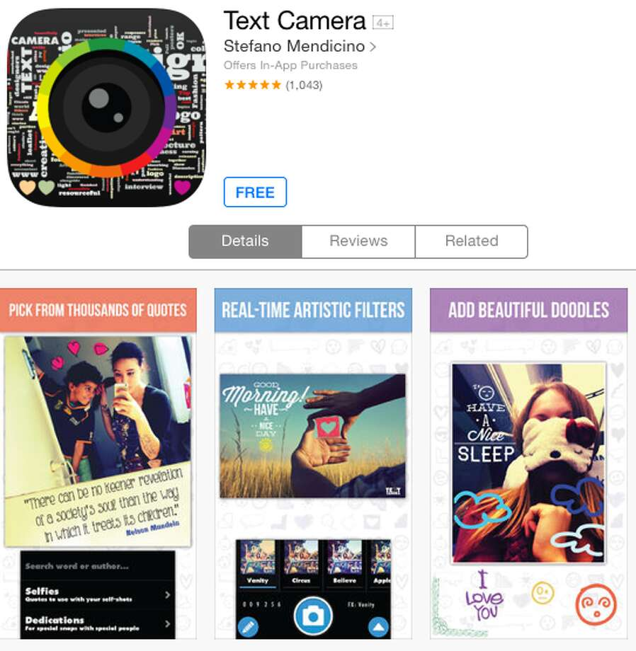 Text Camera is an easy and artful way to add text and other flair to photos.