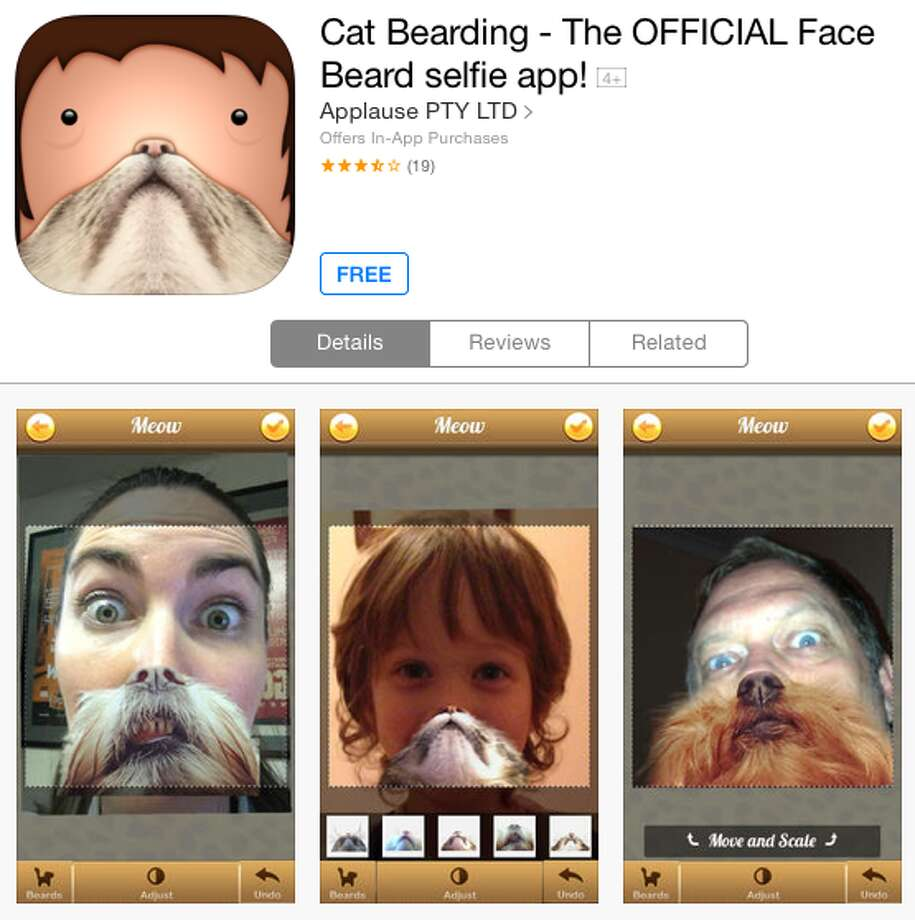 "If you don't have a cat or a beard, but still want to send unsuspecting friends awkward photos that make them think less of you, check out Cat Bearding, which allows users to try on an array of stock cat beards until they find the purrfect look (yes, we went there with the bad ""purrfect"" pun)."