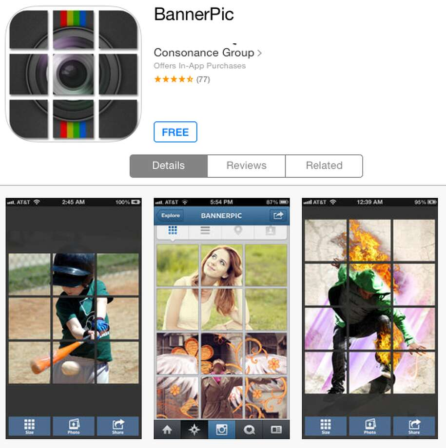Adding your selfie to Instagram? BannerPic easily breaks it down into panels for a cool display effect. Works on other kinds of photos, too.