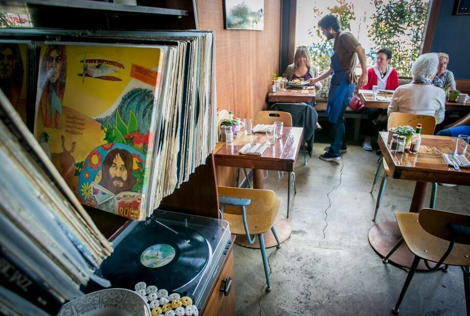 The record player at Wishbone in Petaluma. Photo: John Storey, Special To The Chronicle