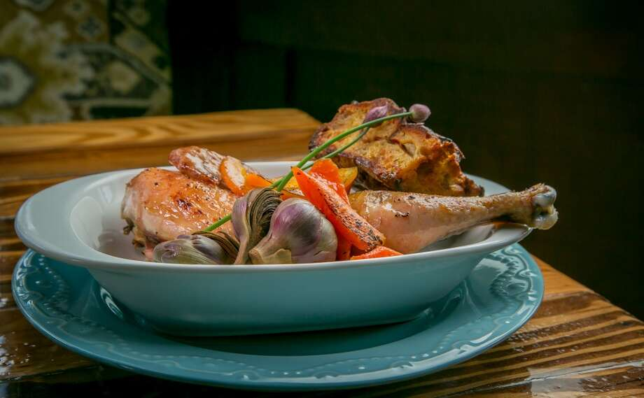 The Half Chicken with Savory Bread Pudding at Wishbone in Petaluma. Photo: John Storey, Special To The Chronicle
