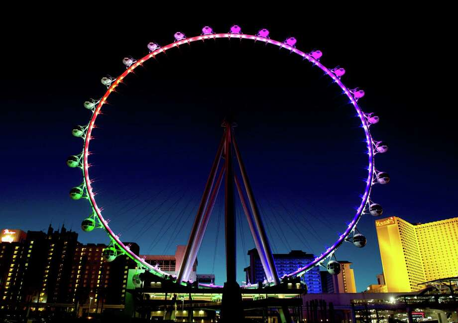 The High Roller, a 550-foot-high observation wheel (the world's largest), opened in Las Vegas by Caesars Entertainment. Photo: Denise Truscello, Photographer Denise Truscello / Denise Truscello