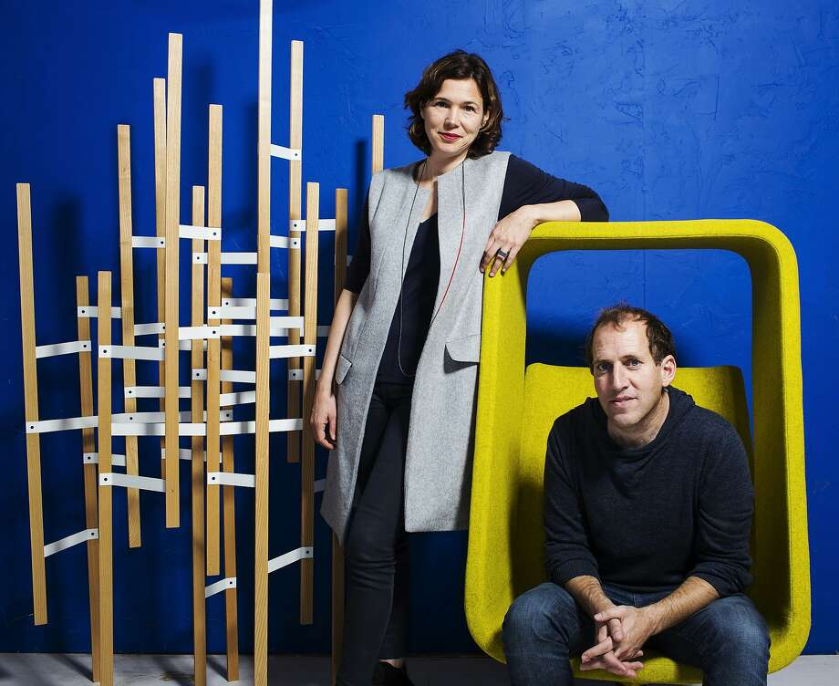 Industrial designers Maaike Evers (left) and Mike Simonian. Their work spans everything from transportation to jewelry. Photo: Stephen Lam, Special To The Chronicle
