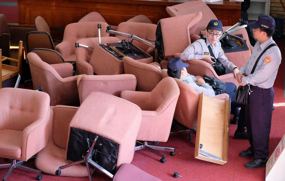 They're going to lose their security deposit:Taiwanese demonstrators have finally ended 